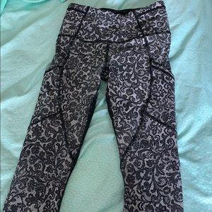 Lululemon cropped mesh leggings.